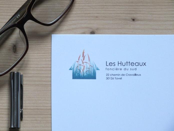"""Papier en-tête """"Les Hutteaux"""""""